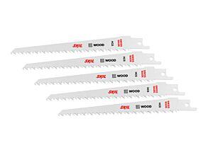 SKIL Jogo de 5 lâminas de serra para madeira HCS
